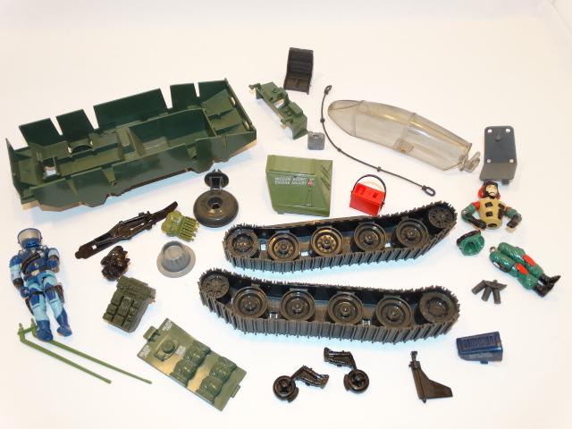 GI Joe Assorted Parts Pieces 1980s