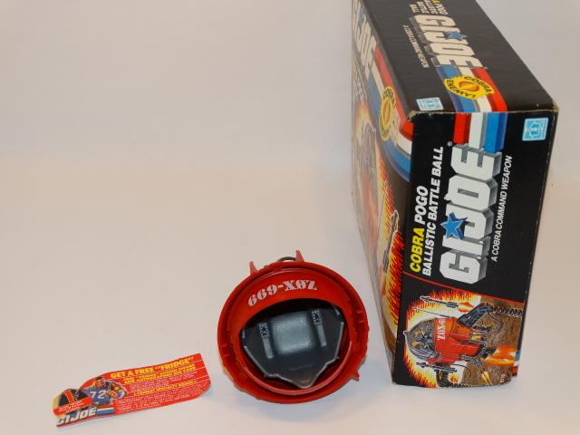 Image 1 of GI Joe Cobra Command Pogo Ballistic Battle Ball Hasbro 1987
