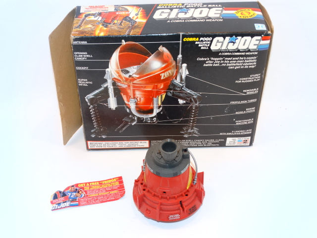 Image 2 of GI Joe Cobra Command Pogo Ballistic Battle Ball Hasbro 1987