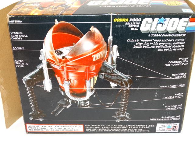Image 3 of GI Joe Cobra Command Pogo Ballistic Battle Ball Hasbro 1987