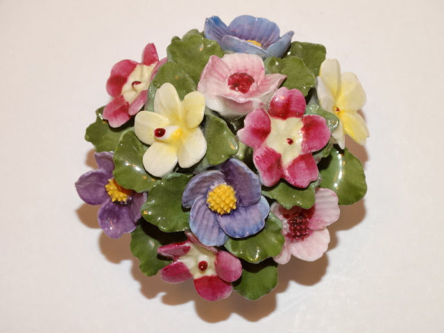 Aynsley Flower Bouquet in Bowl, England