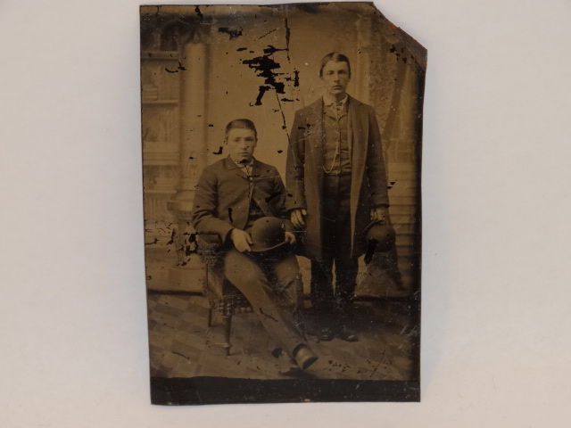 Tintype Photo Men Standing and Seated 1800s