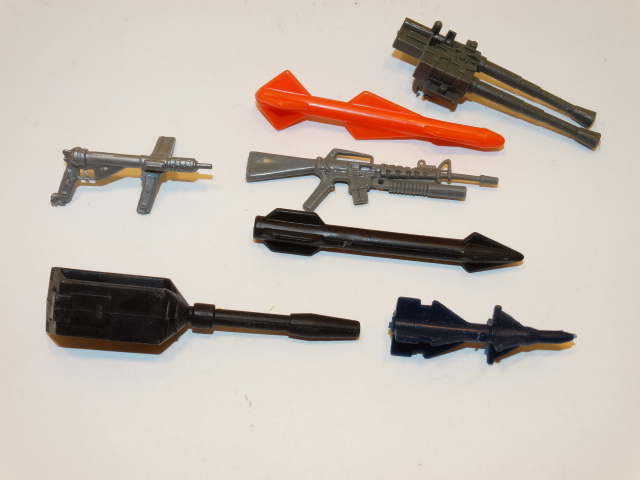 GI Joe Assorted Guns Missiles 1980s