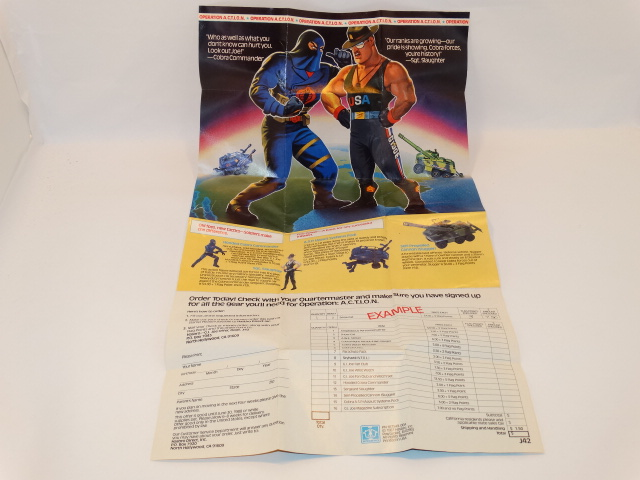 GI Joe Toy Order Form
