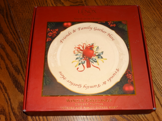 Lenox Winter Greetings Dessert Platter NIB