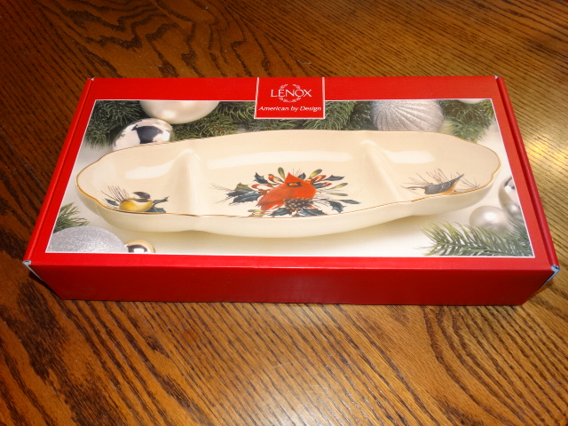 Lenox Winter Greetings Sectioned Server NIB