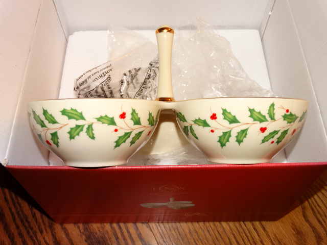 Lenox Holiday Condiment Server NIB