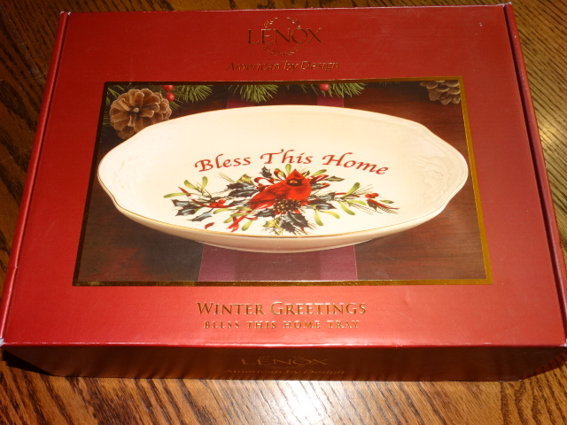 Lenox Winter Greetings Bless This Home Tray New in Box