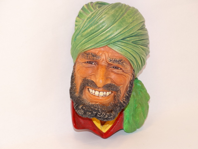 Bossons Punjabi Man Head Chalkware 1964