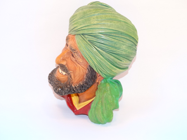 Image 1 of Bossons Punjabi Man Head Chalkware 1964