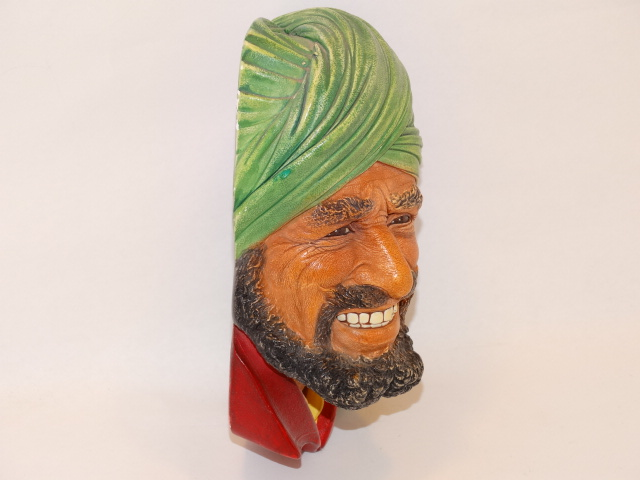 Image 2 of Bossons Punjabi Man Head Chalkware 1964