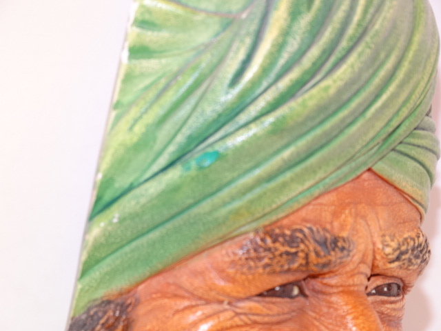 Image 3 of Bossons Punjabi Man Head Chalkware 1964