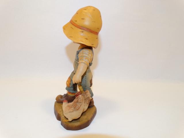 Image 1 of Anri Sarah Kay Girl With Chickens Wood