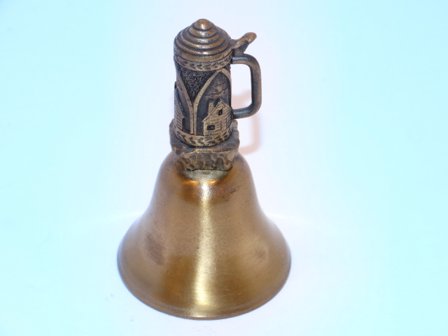 Lighthouse Beer Stein Bell Brass Small