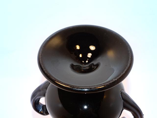 Image 5 of Black Amethyst Glass Vase Vintage