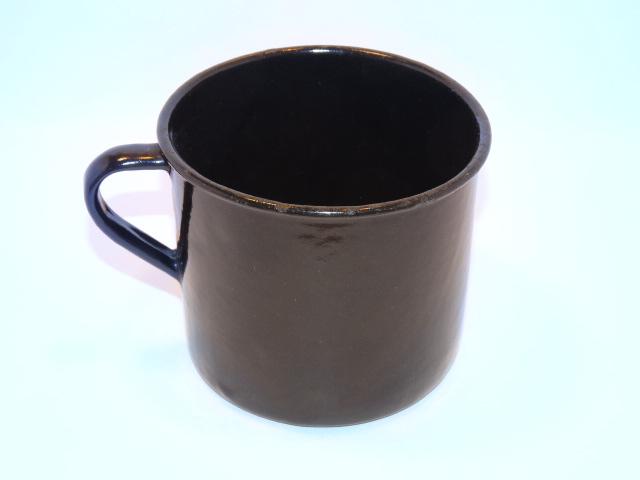 Image 0 of Enamelware Large Cup w Handle Vintage