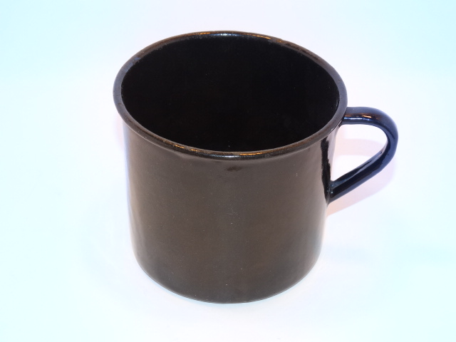 Image 2 of Enamelware Large Cup w Handle Vintage