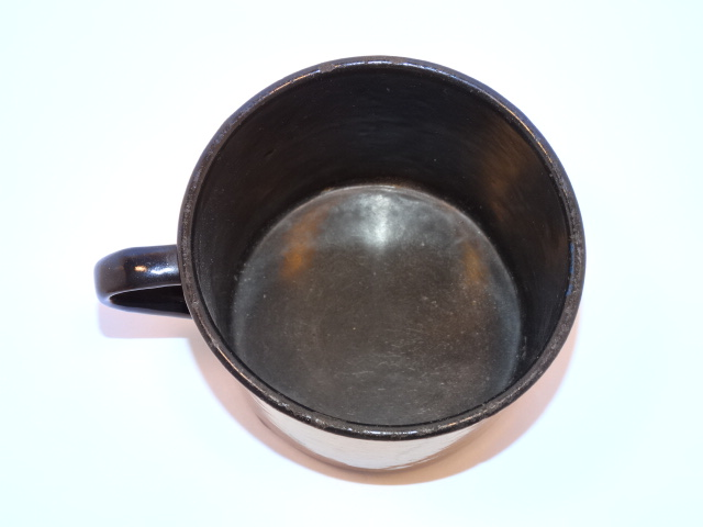 Image 3 of Enamelware Large Cup w Handle Vintage