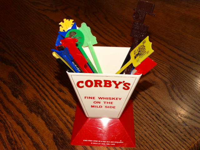 Corby's Stand with Swizzles
