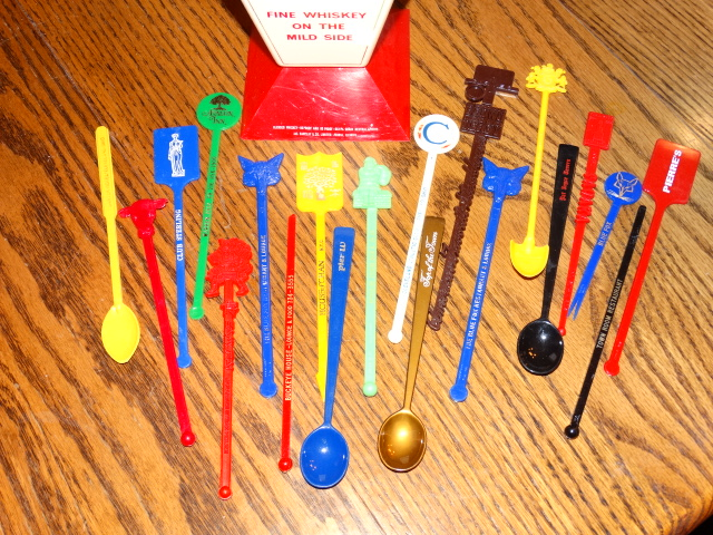 Image 1 of Swizzle Stick Holder Stand Swizzle Sticks Vintage Corby's