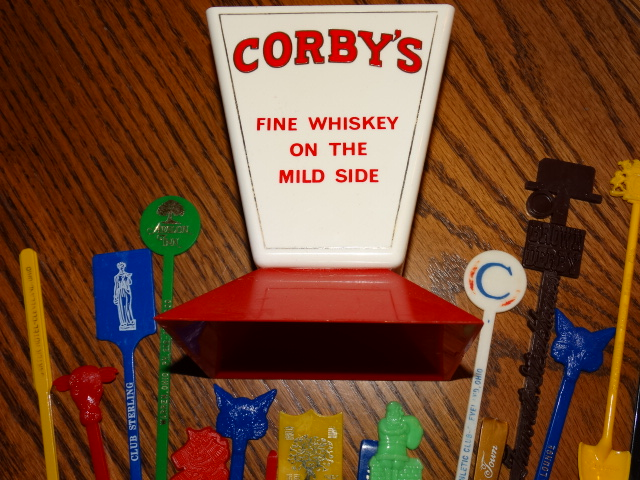 Image 5 of Swizzle Stick Holder Stand Swizzle Sticks Vintage Corby's