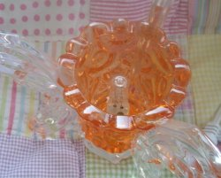 3 Face Orange  Butterfly Oil or Tart Warmer (Dimmer Switch)