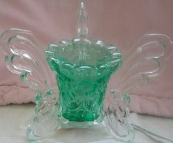 3 Face Green Butterfly Oil or Tart Warmer (Dimmer Switch)