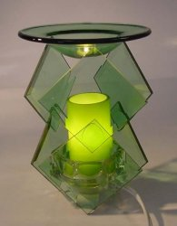 Green Electric Glass Oil or Tart Warmer