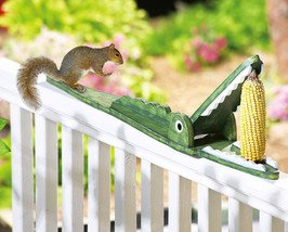 Image 2 of Crocodile Shaped Squirrel Feeder