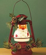 Seasonal Lighted Santa Lantern