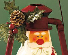 Image 1 of Seasonal Lighted Santa Lantern