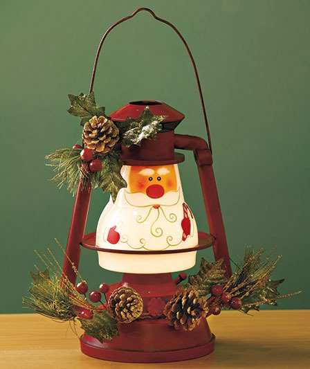 Image 3 of Seasonal Lighted Santa Lantern
