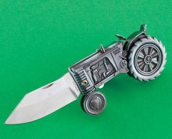 Oliver Tractor Collectible Knife Folding