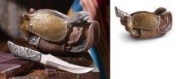 Image 3 of Country Western Cowboy Saddle Knife Set
