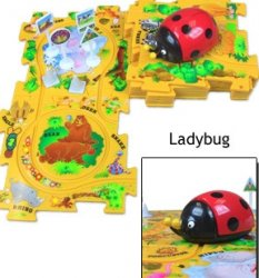Lady Bug Puzzle Vehicle Play Set
