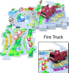 Puzzle Vehicle Play Set Fire Truck