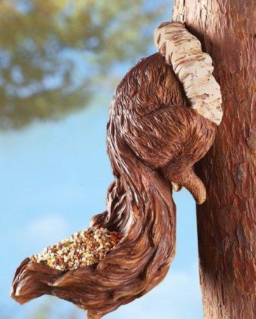 Image 1 of Squirrel Birdfeeder Tree Hanger