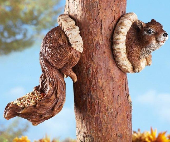 Image 5 of Squirrel Birdfeeder Tree Hanger