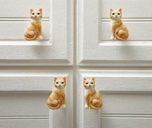 Image 0 of Cat Drawer Pulls  10 Pieces