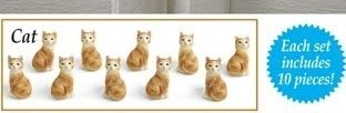 Image 1 of Cat Drawer Pulls  10 Pieces