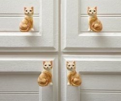 Cat Drawer Pulls  10 Pieces