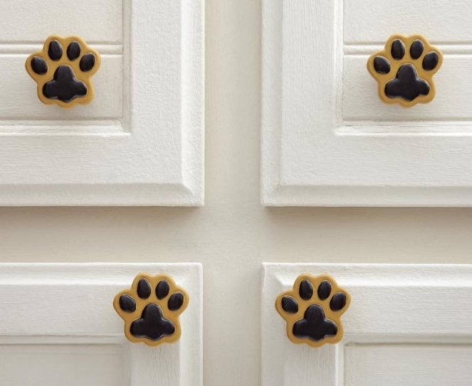 Image 0 of Paw Prints Drawer Pulls  10 Piece
