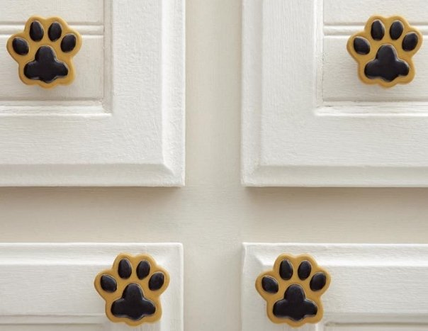 Image 3 of Paw Prints Drawer Pulls  10 Piece