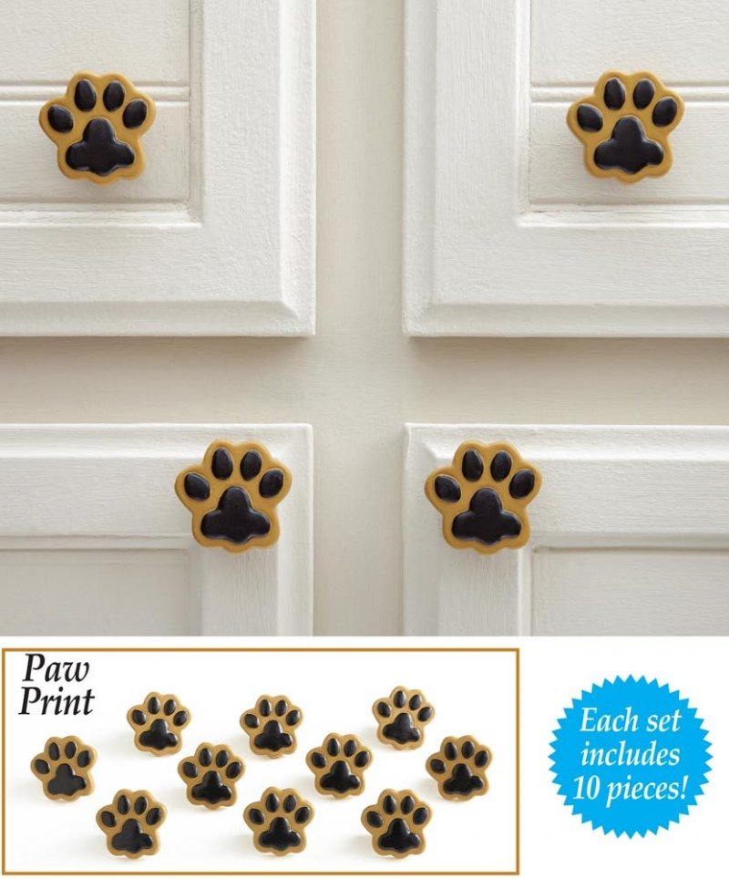 Image 4 of Paw Prints Drawer Pulls  10 Piece