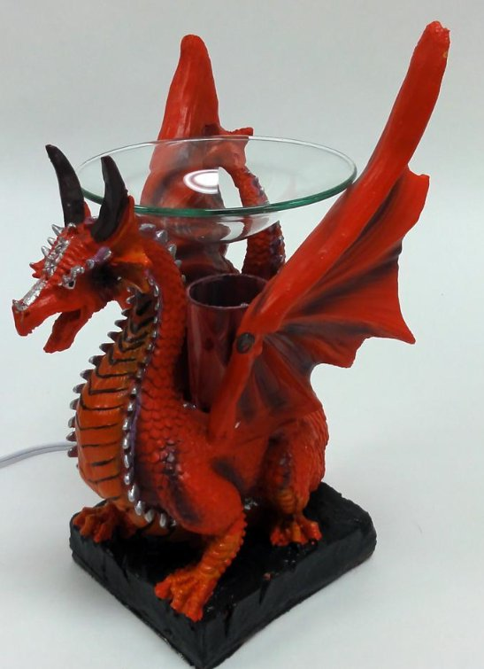 Red Dragon Poly Resin Electric Oil Warmer