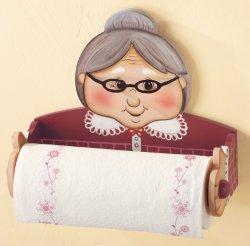 Granny Novelty Kitchen Paper Towel Holder