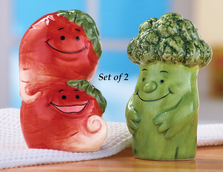 Image 0 of Vegetable Salt and Pepper Shakers