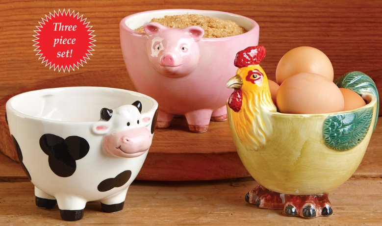 Image 0 of Country Farmhouse Animal Bowls