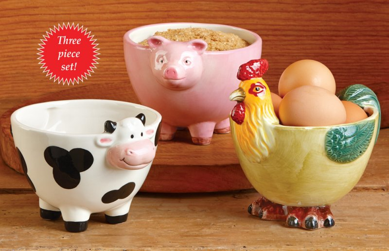 Image 4 of Country Farmhouse Animal Bowls