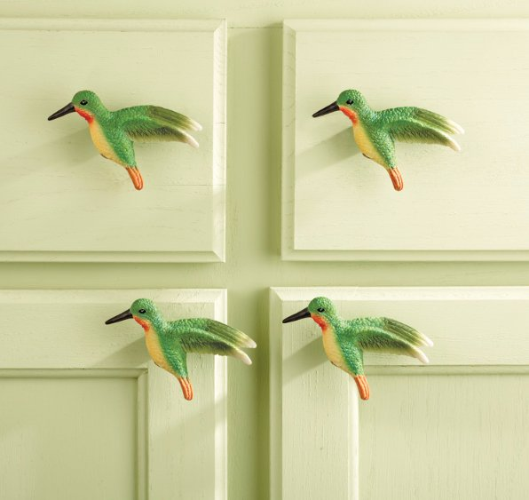 Image 0 of Hummingbird Kitchen Cabinet Drawer Pulls 10-Piece